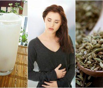 Chica con vaso de leche y semillas
