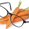 Lentes negros y zanahorias