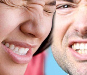 mujer y hombre con dolor dental agudo